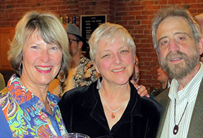 Producer Shay Knorr with Director Lynne Duddy and Narrative Artist Lawrence Howard pre-show at the Cascades Theatrical Company in Bend, Oregon