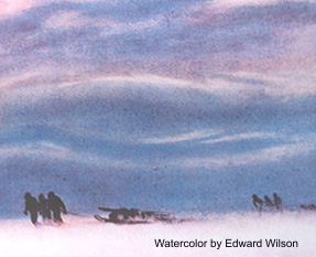 Watercolor of Antarctica by Dr. Edward Wilson, Naturalist